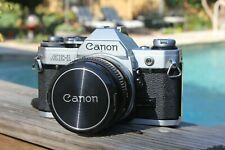Canon AE-1 35mm SLR Film Camera with Canon 50mm F1.8 S.C. Lens Kit