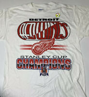 Vintage Deadstock Detroit Red Wings Stanley Cup Championship Large T-Shirt
