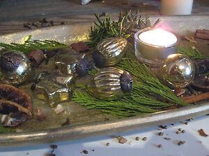 Weihnachsbaumschmuck Kugeln Christbaumschmuck 6 mini Zapfen Stern antik Shabby a