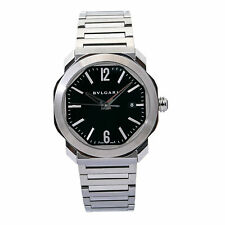 Bvlgari Octo Roma OC41S Automatic Men's Watch Black Dial Stainless Steel 41mm