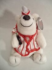 Plush Coca Cola Polar Bear Soda Foundation Coke Bean Bag Style 171 1998 Striped