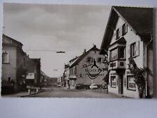 Carte postale Bexbach Saar rue principale pour auberge couronne Becker bière