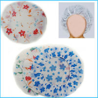 Shower Reusable Cap 3pc Waterproof Bath Elastic Women Caps Plastic Head Cover