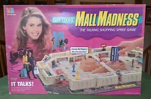 Electronic Mall Madness Board Game 1989 Milton Bradley Works Excellent