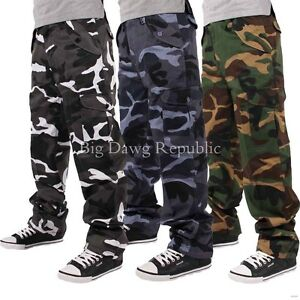 Men's Designer Pants, Military Army, Camouflage, Cargo Combat Trousers, Peviani