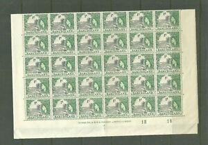 BASUTOLAND QE2 SG44  1D GREY BLACK /GREEN BLUE  FULL SHEET OF 60  UNMOUNTED MINT