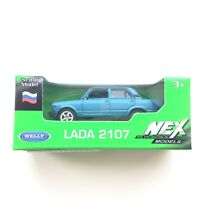 Welly VAZ LADA 2107 Russian Car 1:60 Scale Die-Cast Blue Colour Metal NEW