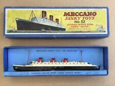 Meccano Dinky Toys No;52. Cunard White Star Liner No: 534. RMS Queen Mary.