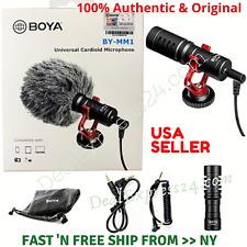 BOYA BY-MM1 Cardioid Condenser Shotgun Microphone for Nikon Canon DSLR Phones