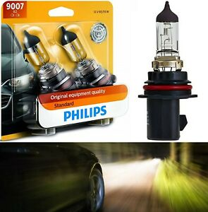 Philips Standard 9007 HB5 65/55W Two Bulb Head Light Plug Play Replace Dual Beam