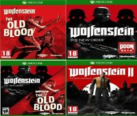 Xbox one Wolfenstein Assorted Take One or Bundle UP - MINT - Super Fast DELIVERY