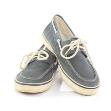 Sperry Top Sider Blue Gray Canvas Boat Shoes Casual Loafers 2-Eye Mens 11.5 M