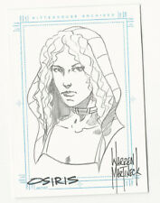 Osiris STARGATE SG1 Season 5 Hand Drawn Sketch Card Sketchafex Warren Martineck