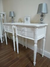 Handmade Pair Of Rennes French Bedside Cabinets In White