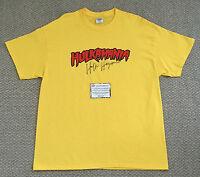 HULK HOGAN Signed HULKAMANIA Wrestling T-Shirt XL WWF WWE WCW NWO Schwartz COA