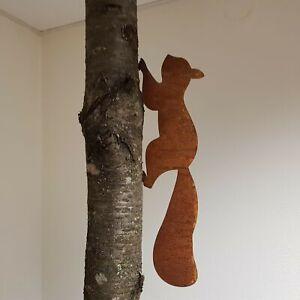 Edelrost Eichhörnchen Dekoration Garten Rost Deko