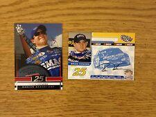 Set of 2 2004 & 2005 Brian Vickers NASCAR Cards Press Pass #25 Chevrolet DITECH