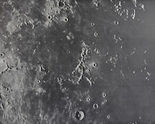 1960 Lunar Moon Map Photo Riphaeus E5-b Lick Observatory Plate L21 Craters