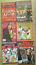 (6) S.F. Giants 2010 SPORTS ILLUSTRATED & Other World Series Magazines