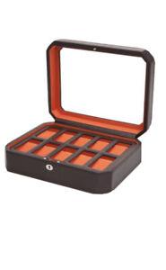 WOLF 10 Piece Watch Box Windsor Model 458406 Brown- BRAND NEW - Retail $249