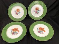 """4 Bavaria Tirschenreuth  Dinner Plates, 2 Floral Patterns, 10 3/4"""""""