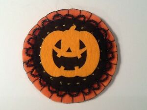 Pumpkin ornaments for halloween tree decorating, black, orange,  item C121