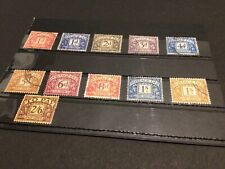 Great Britain Postage due stamps mixed unchecked  Ref 57781