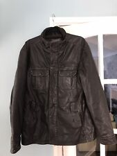 Men's Fat Face Jacket Large, Brown Real Leather. Lovely Condition  Size Large