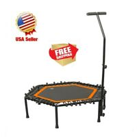 "40"" Foldable Mini Fitness Trampoline Rebounder Training Workout Exercise 300LB"