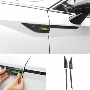 For Hyundai Sonata 2020-21 Front Side Door Fender Cover Trim Carbon Fiber Steel