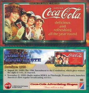 RARA ORIGINAL CARD U.S.A*SIGN OF GOOD TASTE - COCA COLA N.02*-NEW,PERFECT-N.657