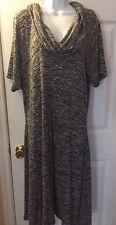 NWT $98 M.S.S.P Max Studio By BCBG Sweater Knit Dress Cowl Neck Sz 2X Plus New