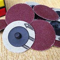 "50pcs 2"" Roloc A/O  Quick Change Sanding Disc 80 Grit SANDING sandpaper 80#"