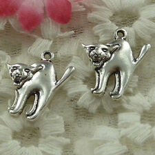 free ship 62 pieces Antique silver dog charms 21x19mm #3861