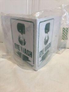 "Eye Wash Station 8"" Wide x 6 High, Rigid Plastic Safety Sign W/Mounting Hole New"