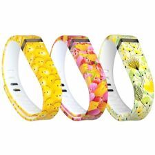 Fitbit Flex Replacement Wristbands Band 3Pcs Silicon w/Fastener Ring- Sz Large