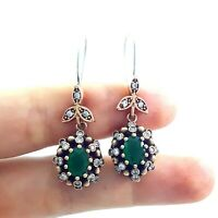 Jewelry Turkish Handmade Victorian 925 Sterling Silver Ladies Earrings E2725