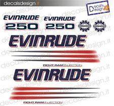 Adesivi motore marino fuoribordo Evinrude e-tec 300 cv barca