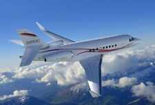 Dassault Falcon 2000LXS Airplane Wood Model Replica Large Free Shipping