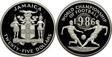 JAMAICA 25 DOLLARS 1986 KM#127   SILVER 0.925