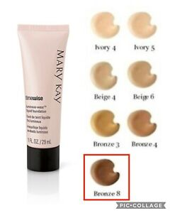 Mary Kay TimeWise Luminous-Wear Liquid Foundation BRONZE 8, Normal to Dry Skin