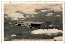American Airways Ford Trimotor Plane, Early Bird Boston-New York Postcard *5D