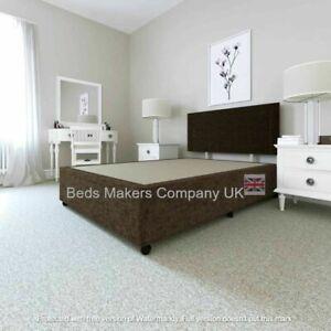 Superfine Chenille Fabric Divan Set / Plain Headboard/ Mattress ✅BEST ONLINE
