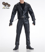 1/6 Scale Ghost Rider Black Leather Cloth Set With Boots Model Figure JGTOYS