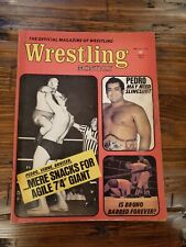 May 1973 WRESTLING MONTHLY MAGAZINE SAMMARTINO ANDRE the GIANT PEDRO MORALES