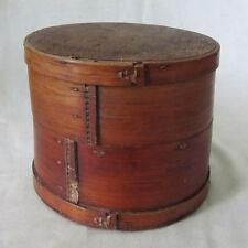 FINE ANTIQUE TIBET BAMBOO WOOD BUTTER BOX SHAKER STYLE BHUTAN SEWN CLOSED