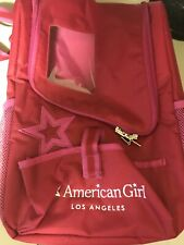 AMERICAN GIRL LOS ANGELES RETIRED DOLL AND PET BACKPACK CARRIER