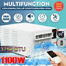 1100W Window Air Conditioner Heating cooling 24 hour Time &Exhaust Hose Remote