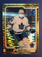 2018-19 O-Pee-Chee Platinum Seismic Gold Parallel #100 Auston Matthews OPC 18/50