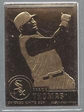 New listing Frank Thomas 2003 Danbury Mint Sealed 22 kt Gold Card # 186